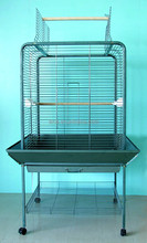"Parrot Metal Bird Cage with Stand Cockatiel 24 x 18 x 62""H"