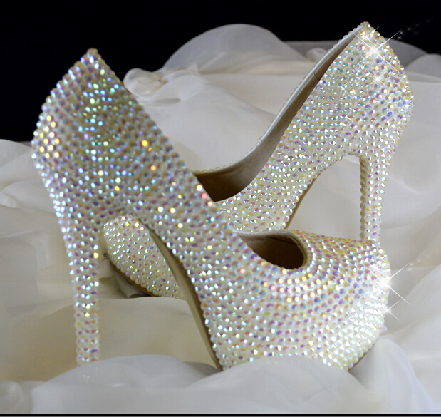 Flat Bridal Shoes With Bling