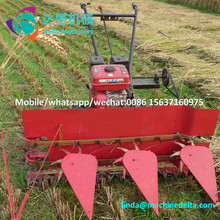 Agricultural 4 wheels crops soybean rice wheat hay reaper and binder use wheat, rice, barley, oats,paddy.