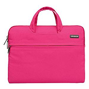 Notebook Bag for Macbook Air Pro - SODIAL(R) Fashion Universal Laptop Ultrabook Notebook Skin Bag &for Macbook Air Pro Sleeve Case (Rose Red 15 inch)