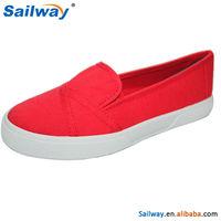 2015 Comfortable red flat shoe, women fashion shoes