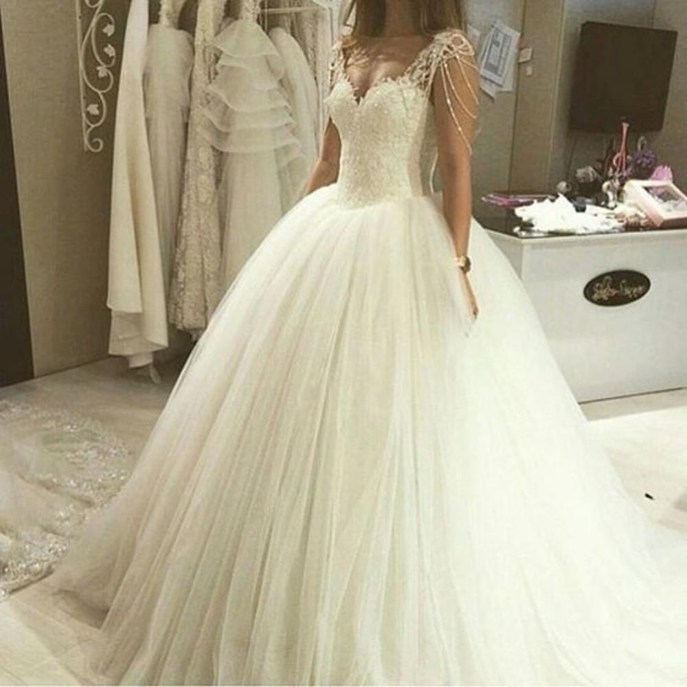 buy vestidos de novia beading straps cap sleeve lace appliques ball gown. Black Bedroom Furniture Sets. Home Design Ideas
