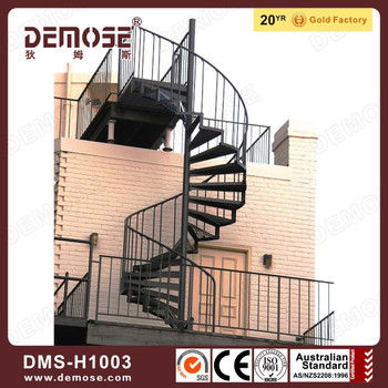 Prefabricated outdoor metal stairs spiral staircase prices for Aluminum spiral staircase prices