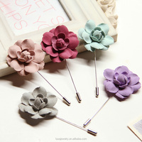 Handmade fabric flower brooch pin men suit accessories, lapel pin for wedding party BRL0266
