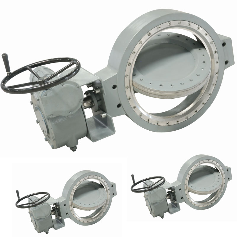 Wafer Class150 Worm Gear Multi-layer Composition Sealing Ring Triple offset metal seated butterfly valves