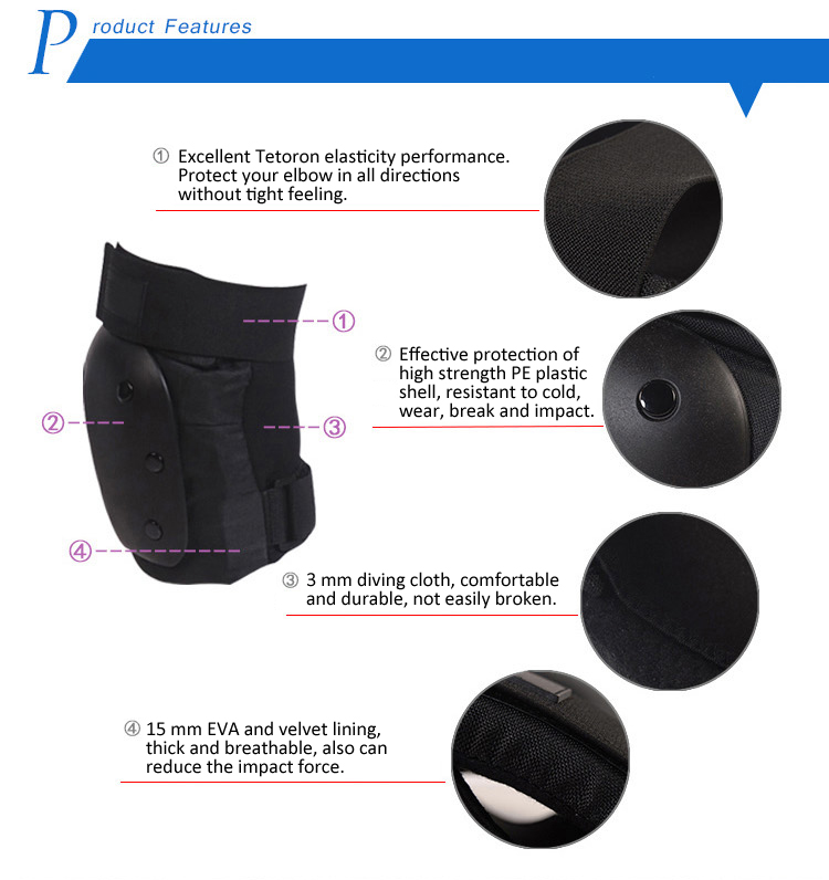 Safety elbow gear/elbow pad for multiple sports 4