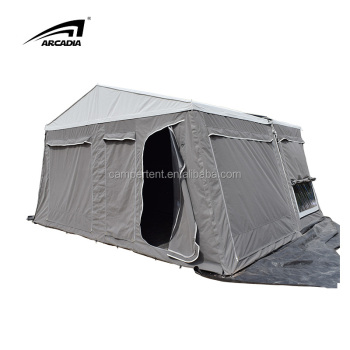 Fiberglass Pop Up Hard Rooftop Camping Tent For Car Roof With Awning Outdoor Hiking