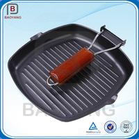 Enamelware cooking vegetable oil coating cast iron steak pan
