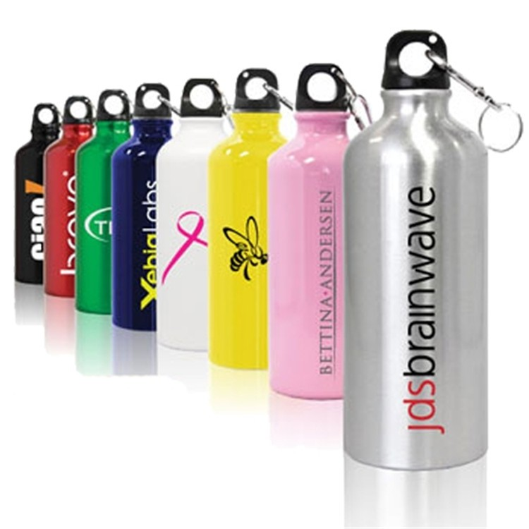 Reusable and lightweight sports curve aluminum double walled water bottle