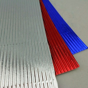 High quality Manufacture Supply metallic corrugated craft color paper