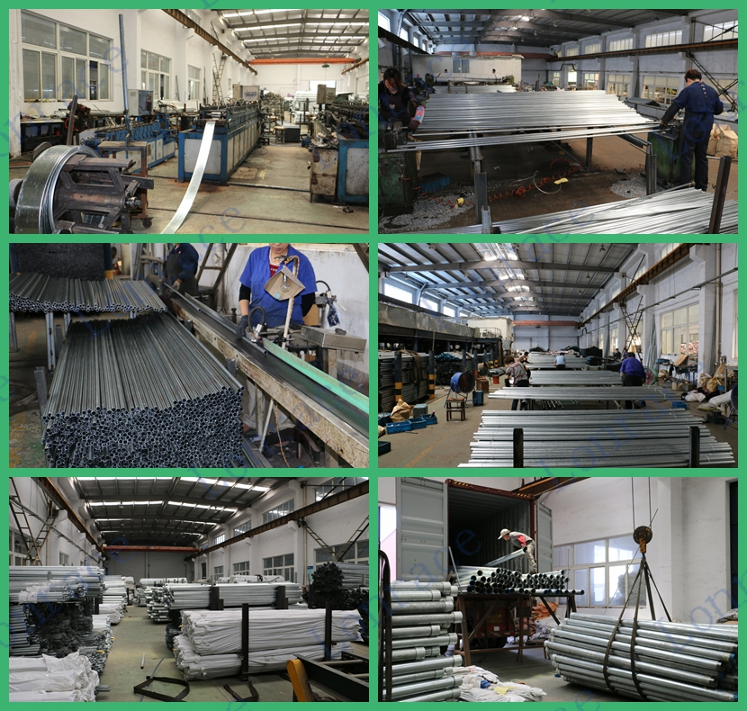 Construction materials ANSI C80.3 galvanized steel pipe electrical metallic tubing EMT conduit for cable protection