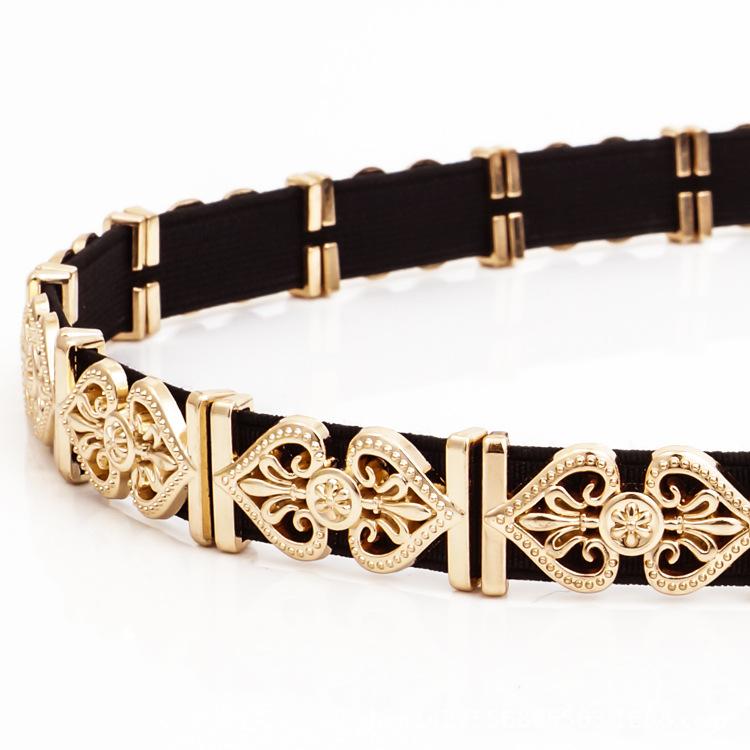 KDA8889 wholesale luxury metal skirt belt