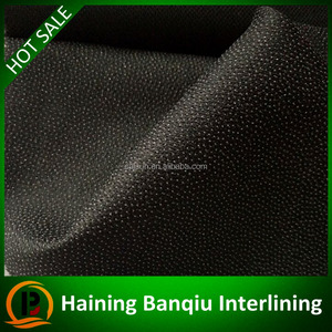 Eco-friendly high quality 100D woven polyester fusible interlining formen's suits