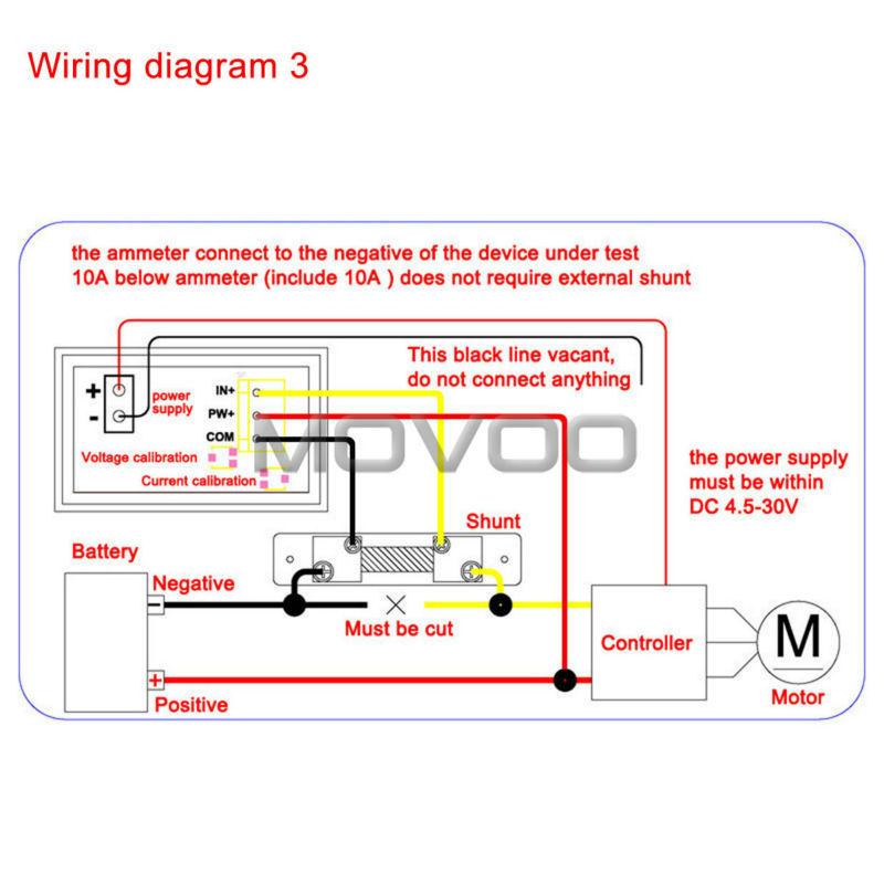 Wholesale-2in1 Volt Amp Meter DC 0~100V/100A Blue Red Led Digital Display on