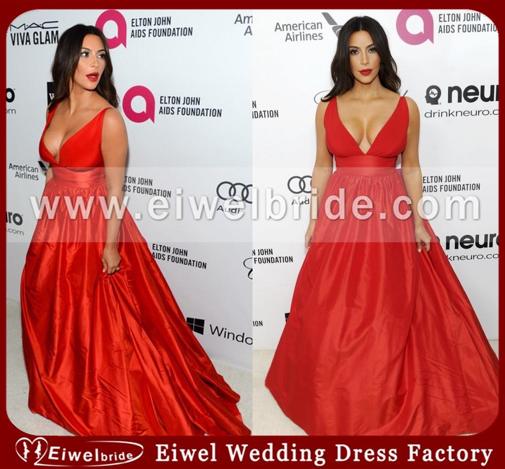 W,68 kim kardashian vestido de noche rojo de elton john oscar vestido de fiesta