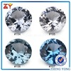 #104 #105 #106 #107 Round brilliant cut light blue synthetic spinel