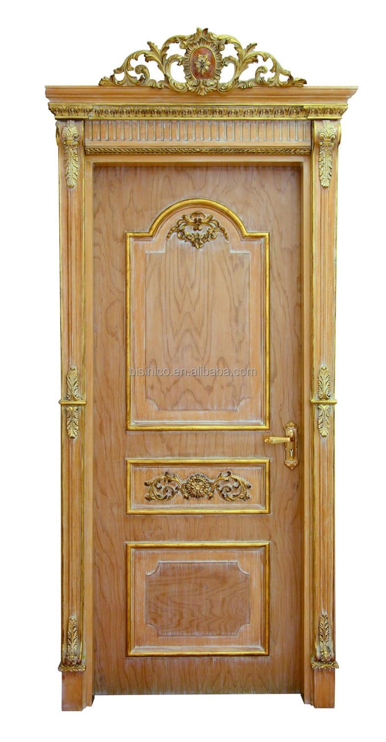 Franse Barok Massief Hout Met De Hand Gesneden Binnendeur Hoge Kwaliteit Antieke Afwerking Beige