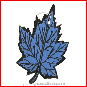 Leaf Design Imprint New Car Scent Air Fresheners Hanging In The ...
