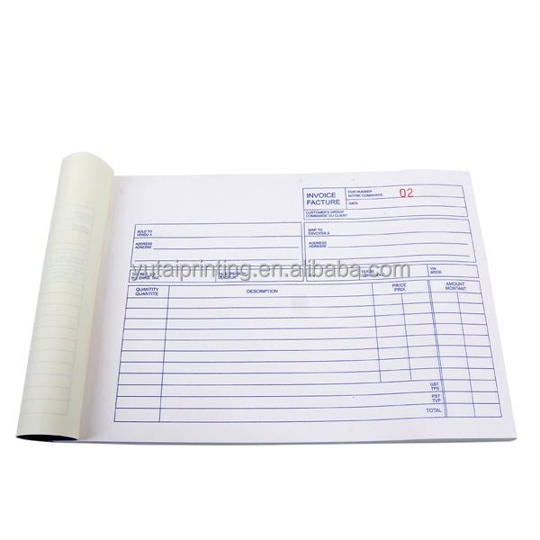 hot selling products bill book printing design vista print invoice books  view bill book