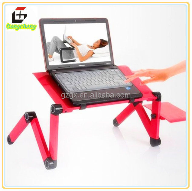 GX-07 Adjustable aluminum stackable portable laptop table/desk with USB fan