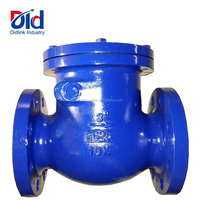 "Cheap Price Cast Iron 3"" Inch GG25 10k Non Reture Swing Globe Type With Flanged Water Flow Check Valve"