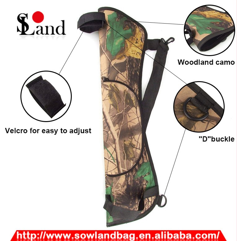 Camo Canvas Archery Target Quiver Hunting Arrow Quiver for outdoor