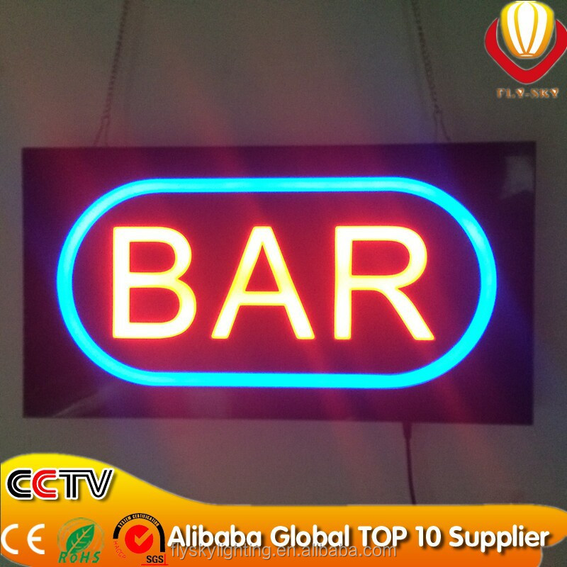 2016 New China Manufacturer Sale Acrylic Resin Led Open Light Sign ...