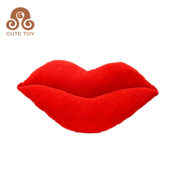 Red Pink Lips Shaped Soft Toy Stuffed Pillow Cushion