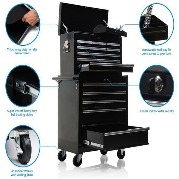 metal industrial cabinet 72 inch rolling tool chest with wheels rugged tool box