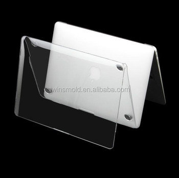 New arrival transparent crystal clear plastic 17 hard case for macbook pro