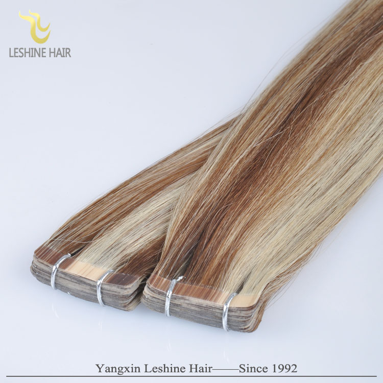Hot Selling Wholesale Piano Mixed Color Human Remy Tape In Remy Hair Extension