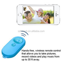 New Gadgets 2015 Music/Video Bluetooth Wireless Remote for iOS Android Mobile Phone