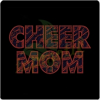 Best-Selling Cheer Mom Rhinestone Heat Transfers Motif,T-shirt Rhinestone Iron On Transfers