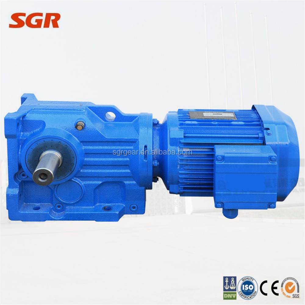 Bauer Equivalent Helical Bevel Gear Motor Right Angle