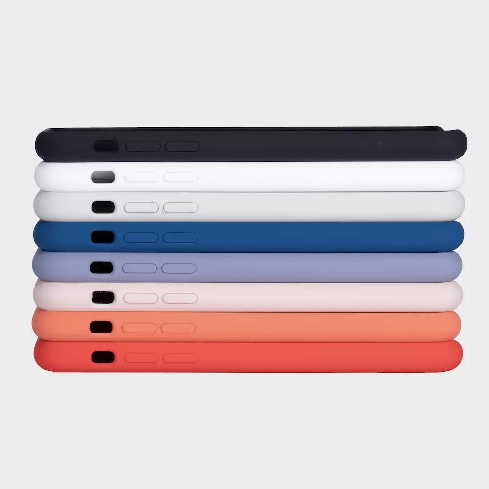 卸売カスタム OEM ソリッドブラックスリムソフト 1:1 オリジナルの携帯電話携帯電話アップル 5 5s 、 se 6 6s 7 7 プラス x 10