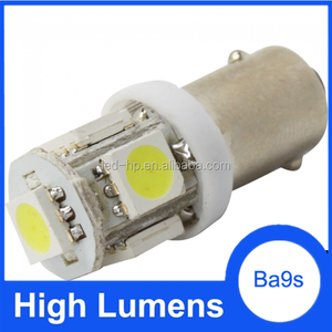 High lumen 12V led car bulb light 5050 5SMD led bulbs ba9s ba9s dimmable
