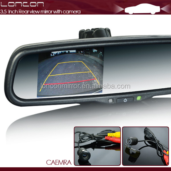 "2014 Latest stable quality 3.5"" auto dimming car rear view mirror with parking sensor"