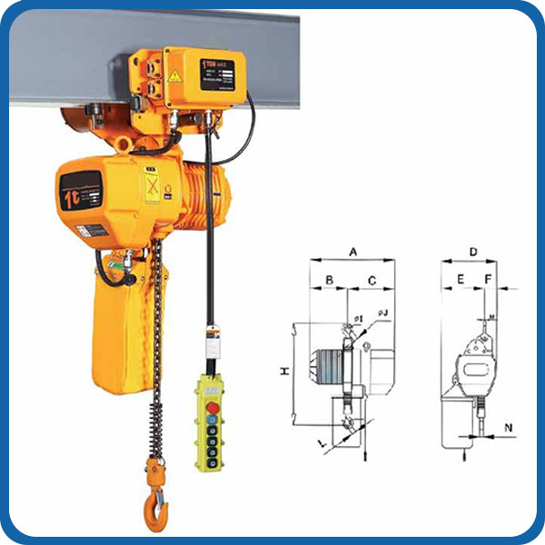 Mini Lifting Equipment Hoisting 100kg 300kg Chain Hoist Manufacturer