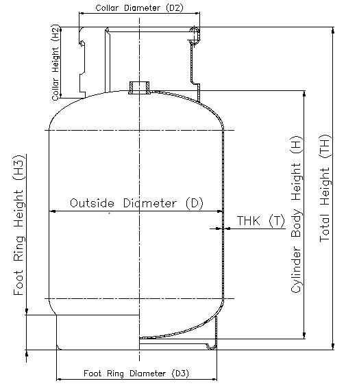 ホット販売 HP295 鋼 9 キロ lpg ガスシリンダーを調理するための