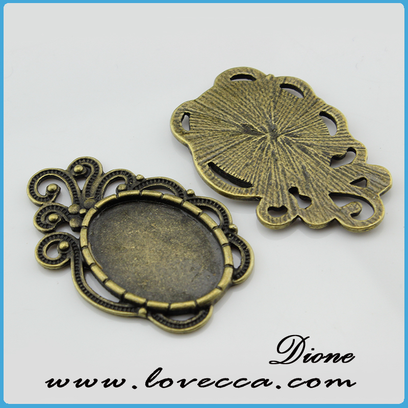 cameo pendant setting	,alloy pendant base for cabochons,fashion necklace pendant tray