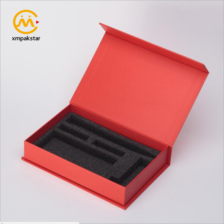 Wholesale custom luxurious packing make up gift set packaging box with foam dividers