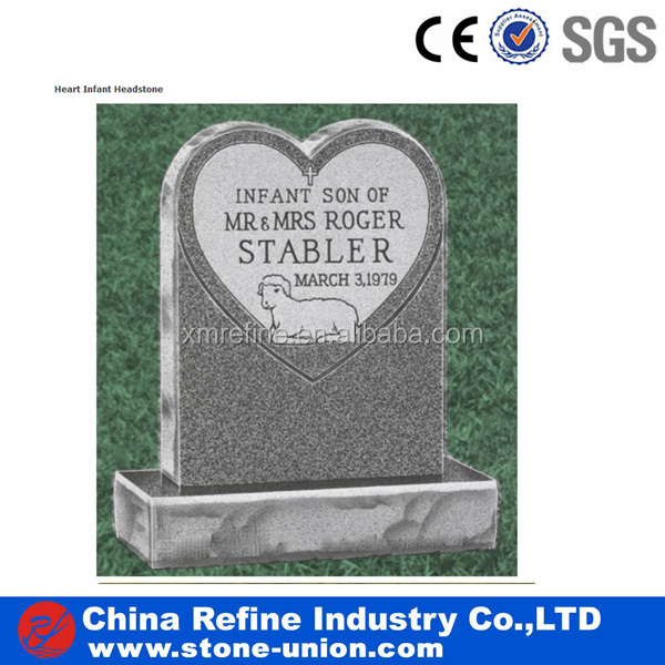 Heart shaped memorial stone monument