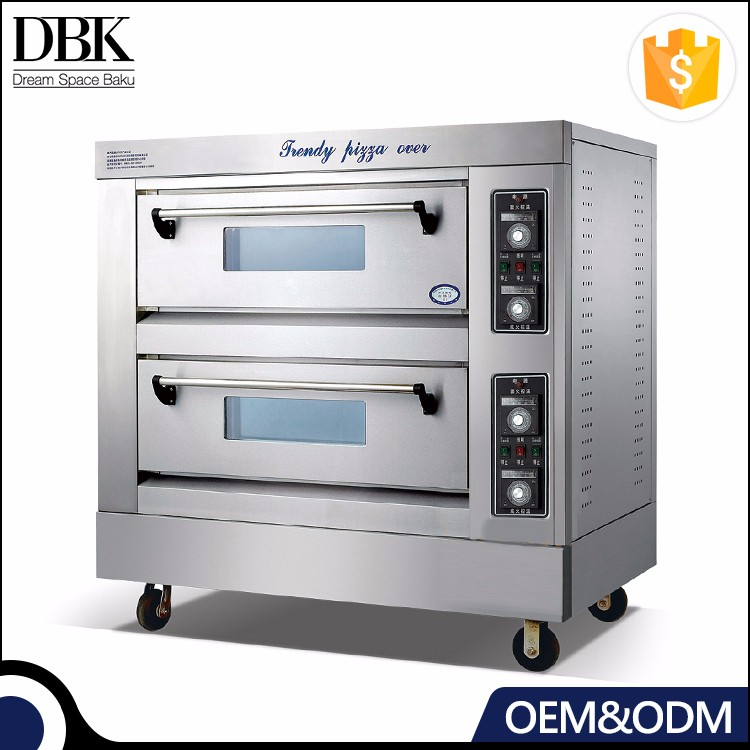 DBK Guangzhou good quality commercial 1 layer stainless steel pizza oven electric gas bakery ovens