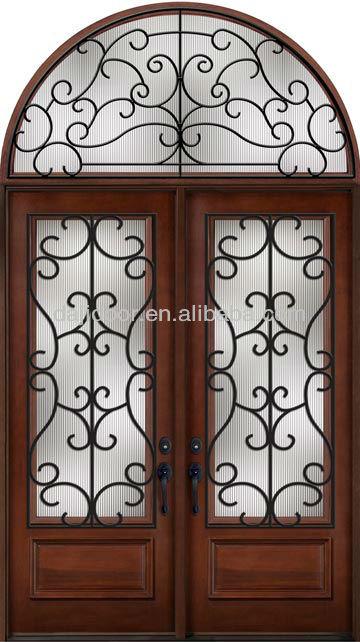 Eyebrow Top Wrought Iron Double Entry Door, Eyebrow Top Wrought Iron ...