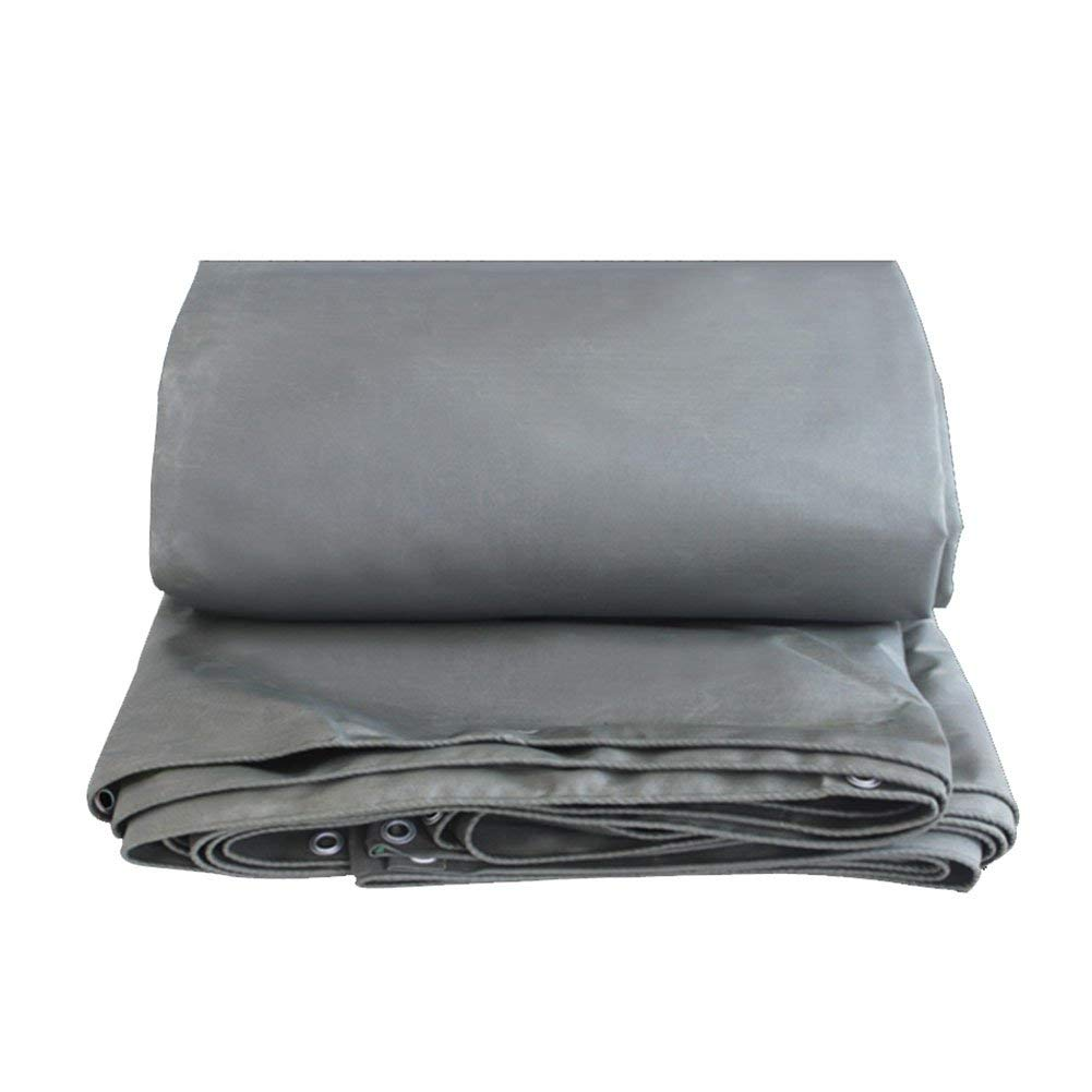 LQQGXL Tarpaulin Tarpaulin Double-Sided Moisture-Proof Cargo dust-Proof Cloth Truck shed Cloth wear-Resistant Anti-Corrosion, Gray Waterproof Tarpaulin