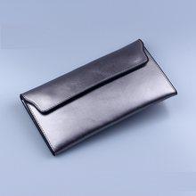 Женский длинный тонкий кошелек NIGEDU, брендовый клатч из натуральной воловьей кожи с несколькими отделениями для карт, модный Стандартный Бу...(Китай)