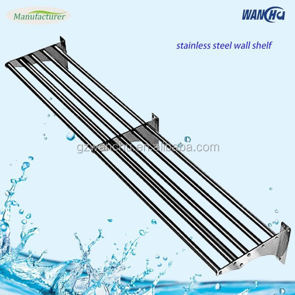 Commercial Kitchen Steel Pipe Shelf/Stainless Steel Hanging Kitchen Wall Shelf/Metal Kitchen Utensil Rack Manufacturer