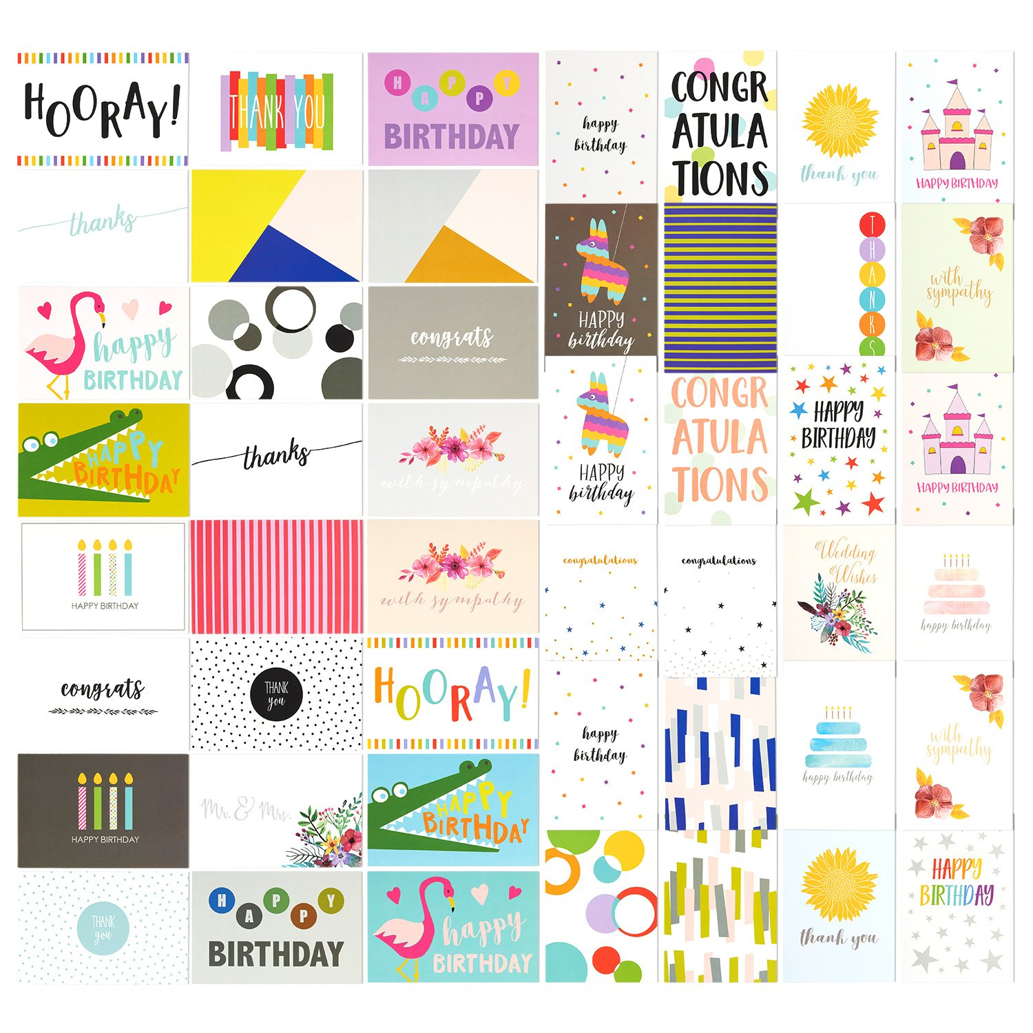 Get Quotations 48 Pack Assorted All Occasion Greeting Cards Blank Note Card Includes Happy Birthday