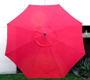 Get Quotations · New 9u0027 FT Market Patio Garden Umbrella Replacement Canopy  Canvas Cover Red