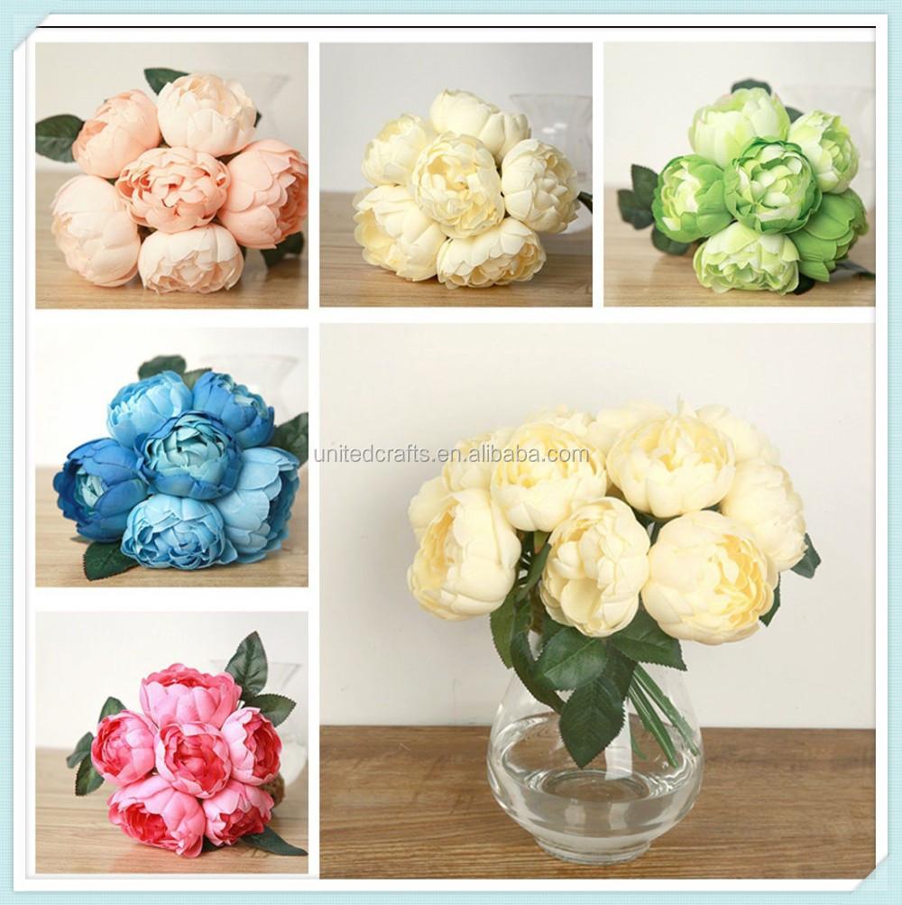36 Head Small Carnation Bunch Bush Artificial Flowers Bouquet Fake